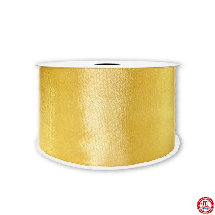 Лента Атлас Золото / 50 мм * 22,85 м