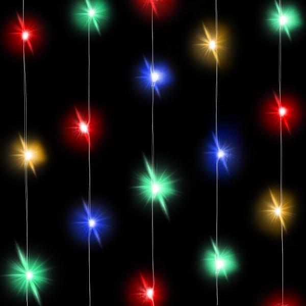 Светодиодная нить Разноцветного свечения, 30 Led, 3 м