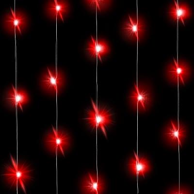 Светодиодная нить Красного свечения, 30 Led, 3 м