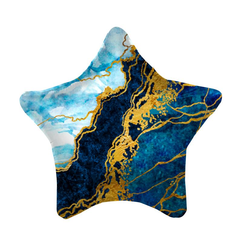 Синий мрамор 19