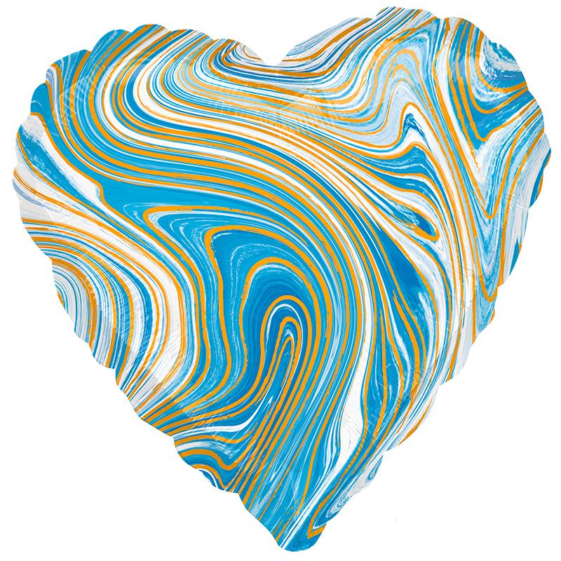 Сердце Голубой мрамор / Blue marble