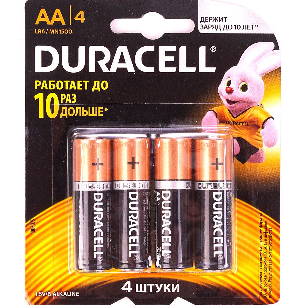 Батарейка Duracell Basic LR6 AA BL16 (4*4) Alkaline 1,5V