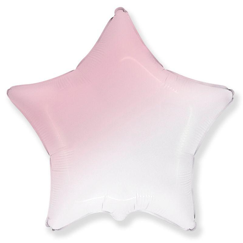 И 32 Звезда Бело-Розовый градиент / Star White-Pink gradient.