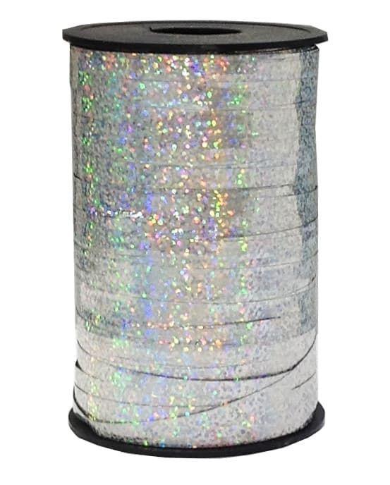 Лента голография Серебро.разм 0,5 см * 200 м