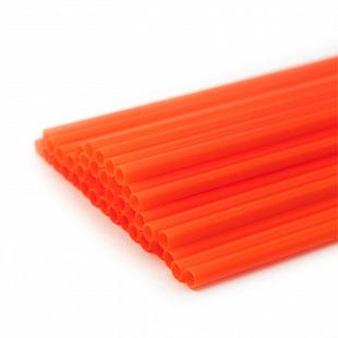 Трубочка полимерная для шаров, флагштоков и сахарной ваты КРАСНАЯ, 100 шт разм 5,4*380 мм