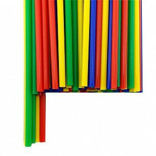 Трубочка полимерная для шаров, флагштоков и сахарной ваты АССОРТИ разм 5,4*380 мм 100 шт
