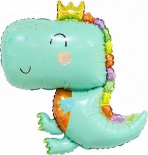 Фигура, Динозаврик в короне, Светло-зеленый