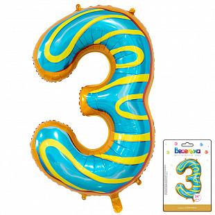 Цифра 3 Пончик в упаковке / Three