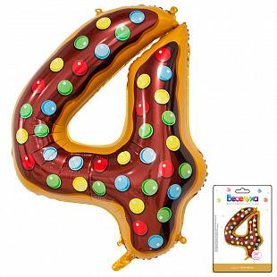 Цифра 4 Пончик в упаковке / Four