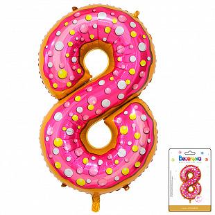 Цифра 8 Пончик в упаковке / Eight