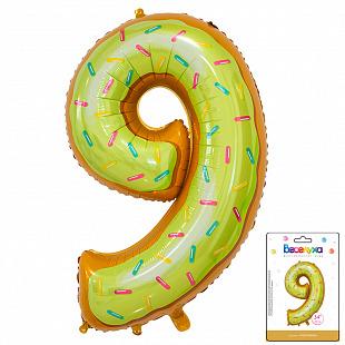 Цифра 9 Пончик в упаковке / Nine