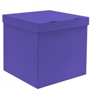 Коробка для воздушных шаров Лиловый, 70*70*70 см, 1 шт.