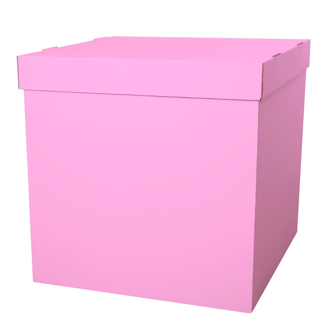 Коробка для воздушных шаров Розовый, 70*70*70 см, 1 шт.