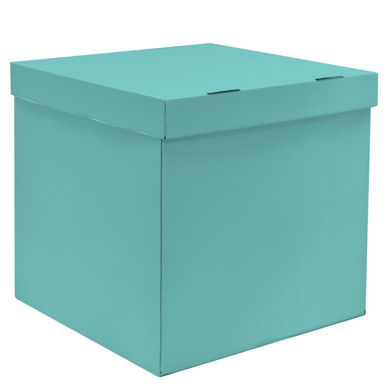Коробка для воздушных шаров Тиффани, 70*70*70 см, 1 шт.