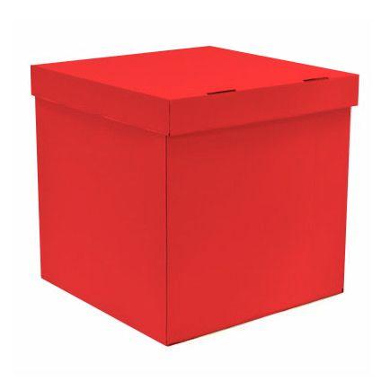 Коробка для воздушных шаров Красный, 70*70*70 см, 1 шт.