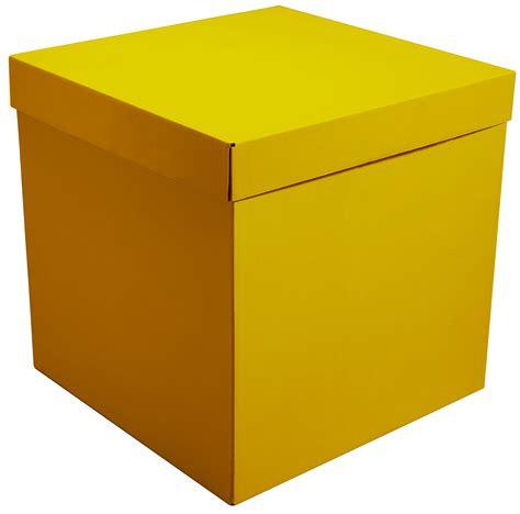 Коробка для воздушных шаров Жёлтый, 70*70*70 см.
