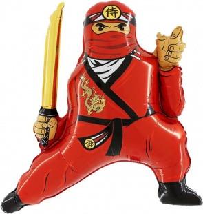 Фигура, Ниндзя, Красный, Шар (32
