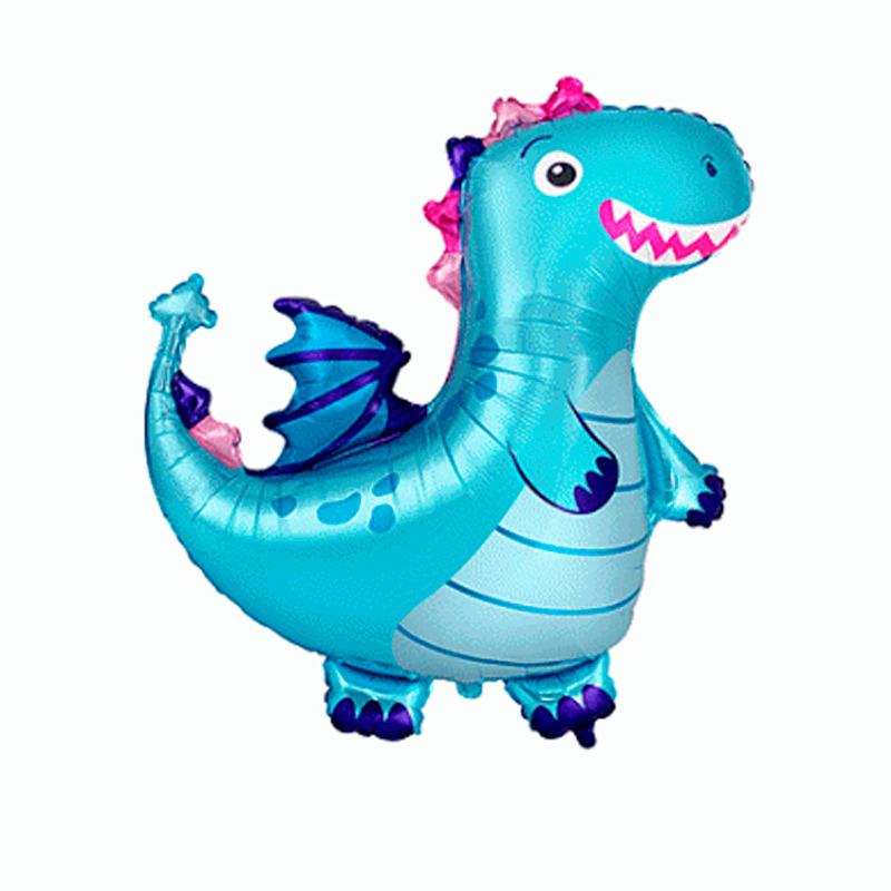 Динозаврик голубой, 36″/92 см.