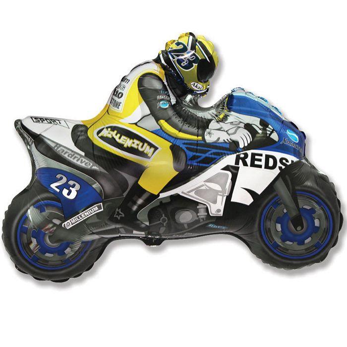 Мотоцикл (синий)