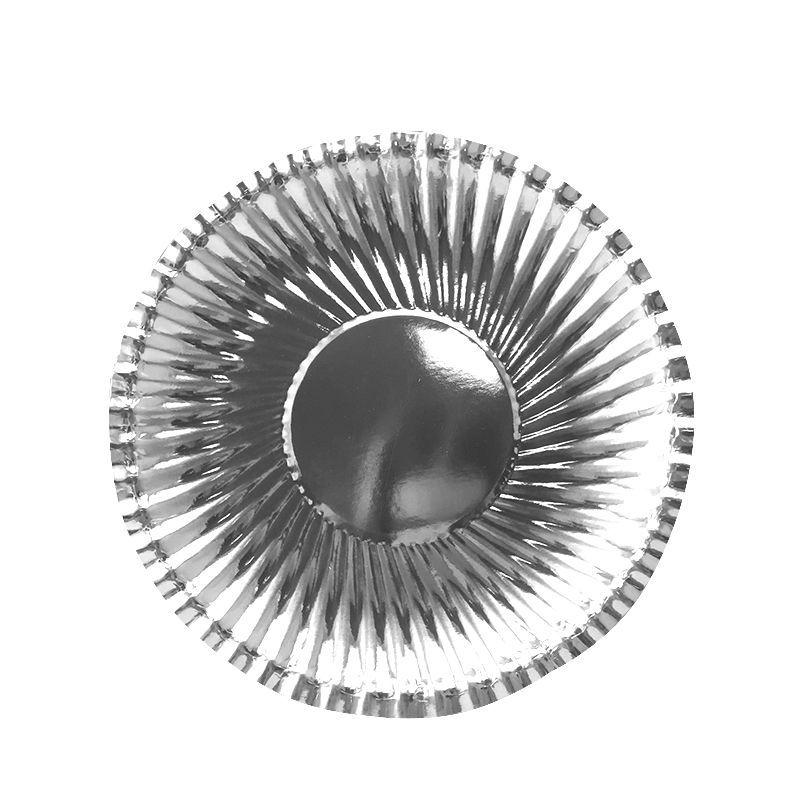 Тарелки фактурные Серебряные