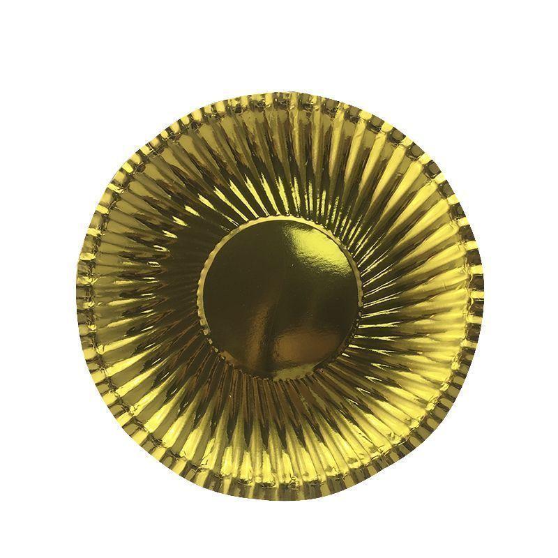 Тарелки фактурные Золотые