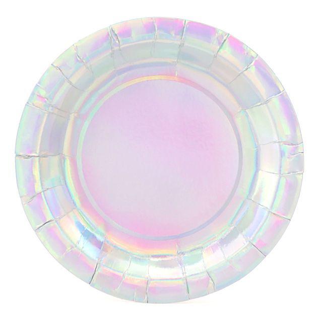 Тарелки перламутровые Нежно-розовые