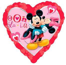 Сердце Микки и Минни Любовь, 45см