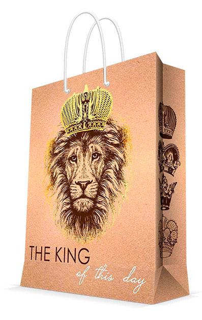 Бумажный пакет The King, 26x32.4x12.7,