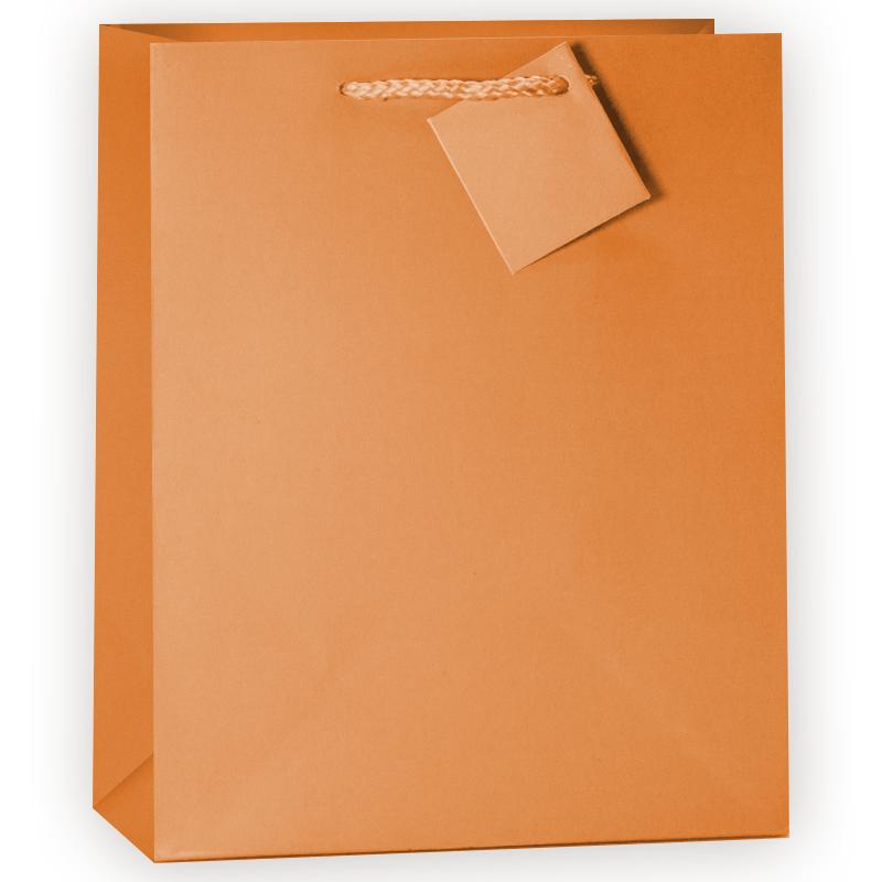 Пакет подарочный, Оранжевый,26*33*12 см.
