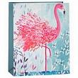 Пакет подарочный, Фламинго (акварельный эскиз), 32*26*12 см.