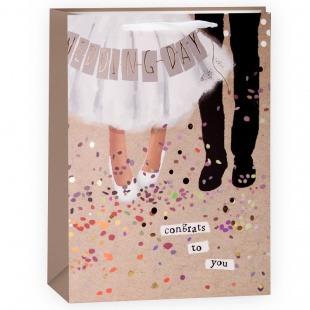 Пакет подарочный, Свадебный танец, 33*22*10 см.