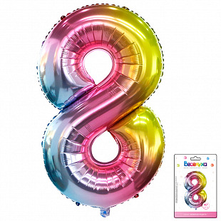 Цифра 8 Радуга нежный градиент в упаковке / Eight